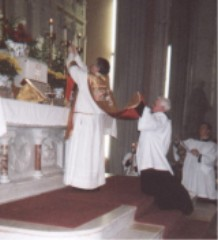Father McNerney Celebrating Mass at St. Peter's