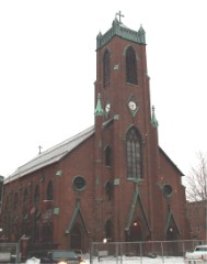 Exterior of St Peter's Church, Troy, NY