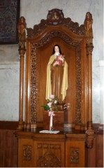 Shrine to St. Theresa at St. Peter's Church