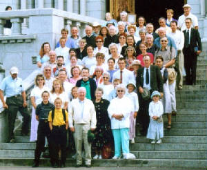 2005 Pilgrimage--Pilgrims at Ste. Anne du Beaupre