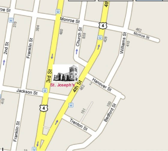 Map - St Joseph's Church, Troy, NY
