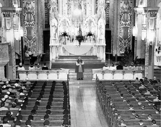 Bishop Scully at St. Joseph's--Confirmation, 1952.