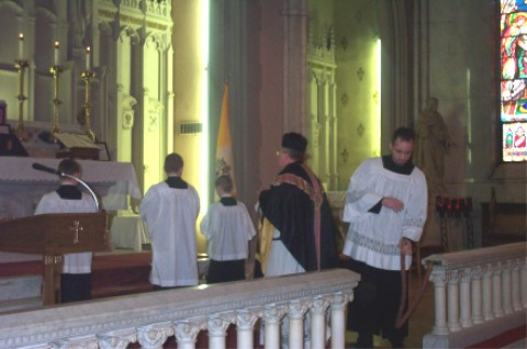 Entrance of the Clergy and Altar Servers