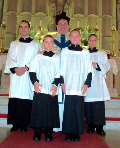 Father Gorman and the Parish Altar Services